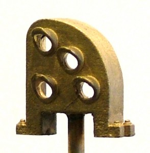 B147 Brass Pennsy Right Curved Dwarf